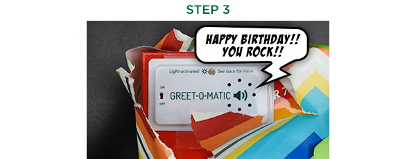 Using Greet-o-matic Step 3